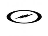 STORM BOLT™ VINYL DECAL BLACK 6""