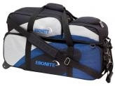 EBONITE TEAM 3 BALL TOTE W/REMOVABLE POUCH NAVY/ SILVER