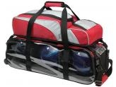 EBONITE TEAM 3 BALL TOTE W/REMOVABLE POUCH RED/ SILVER