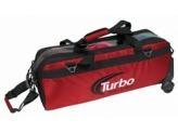 TURBO 3 BALL TRAVEL TOTE ROLL RED