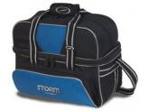 STORM 2-BALL TOTE DELUXE BAGS BLACK/ BLUE/ SILVER